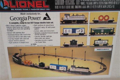 LIONEL GEORGIA POWER TRAIN SET, No Transformer:
