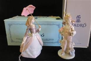 LLADRO Angela and Spring Figurines