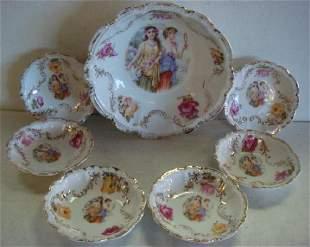 Bavaria Seven Piece Porcelain Berry Set