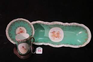 3 Pc Austrian Carlsbad Victoria Porcelain