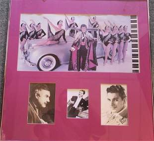 Collage of Liberace Photos With Autograph Top