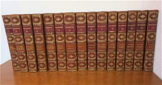 Leather Bound Set of Shakespeare 1833 Plays  Poems