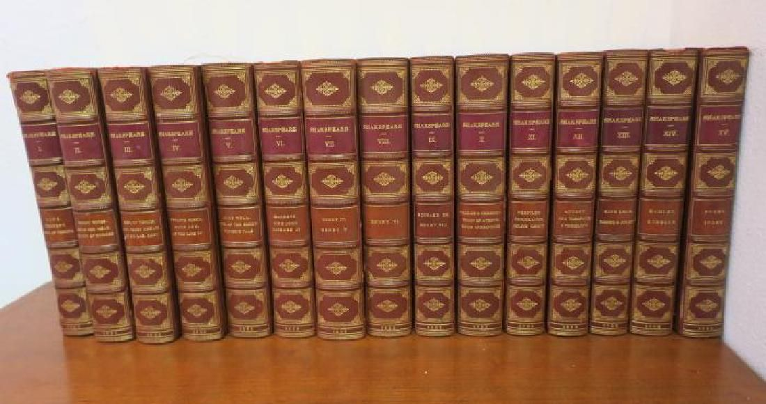 Leather Bound Set of Shakespeare 1833 Plays & Poems: