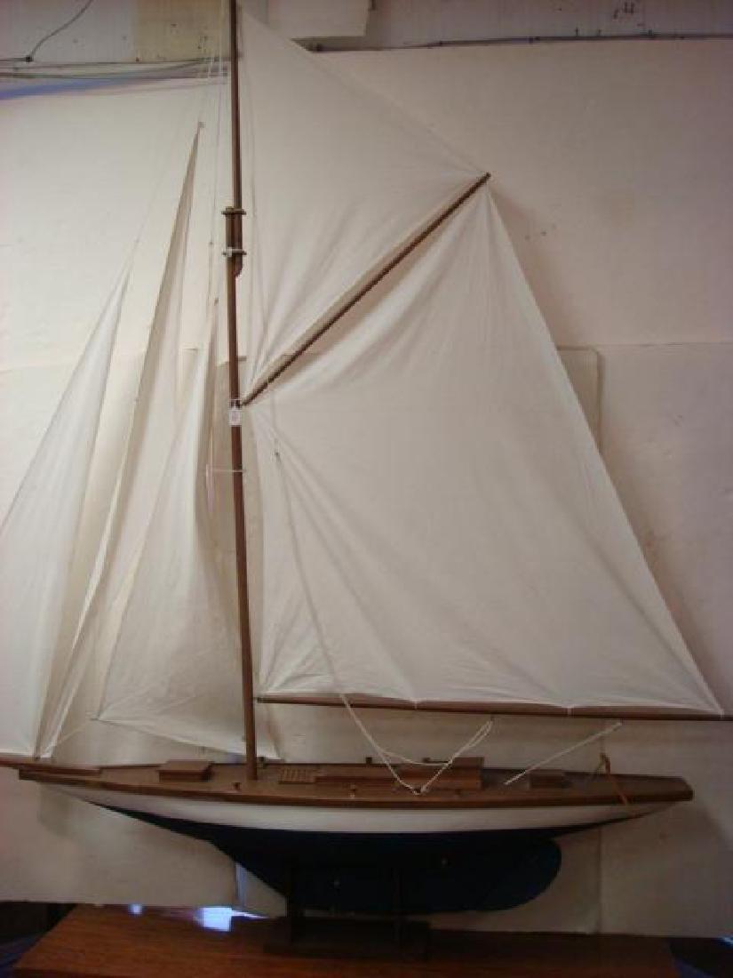 HUGE Wooden Fully Rigged Sailing Sloop Model 8'+ Tall