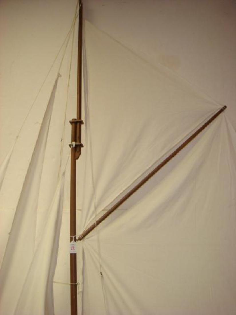 HUGE Wooden Fully Rigged Sailing Sloop Model 8'+ Tall - 3