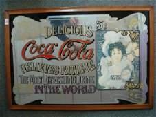 "COLA-COLA ""PRETTY GIRL"" Bar Mirror:"