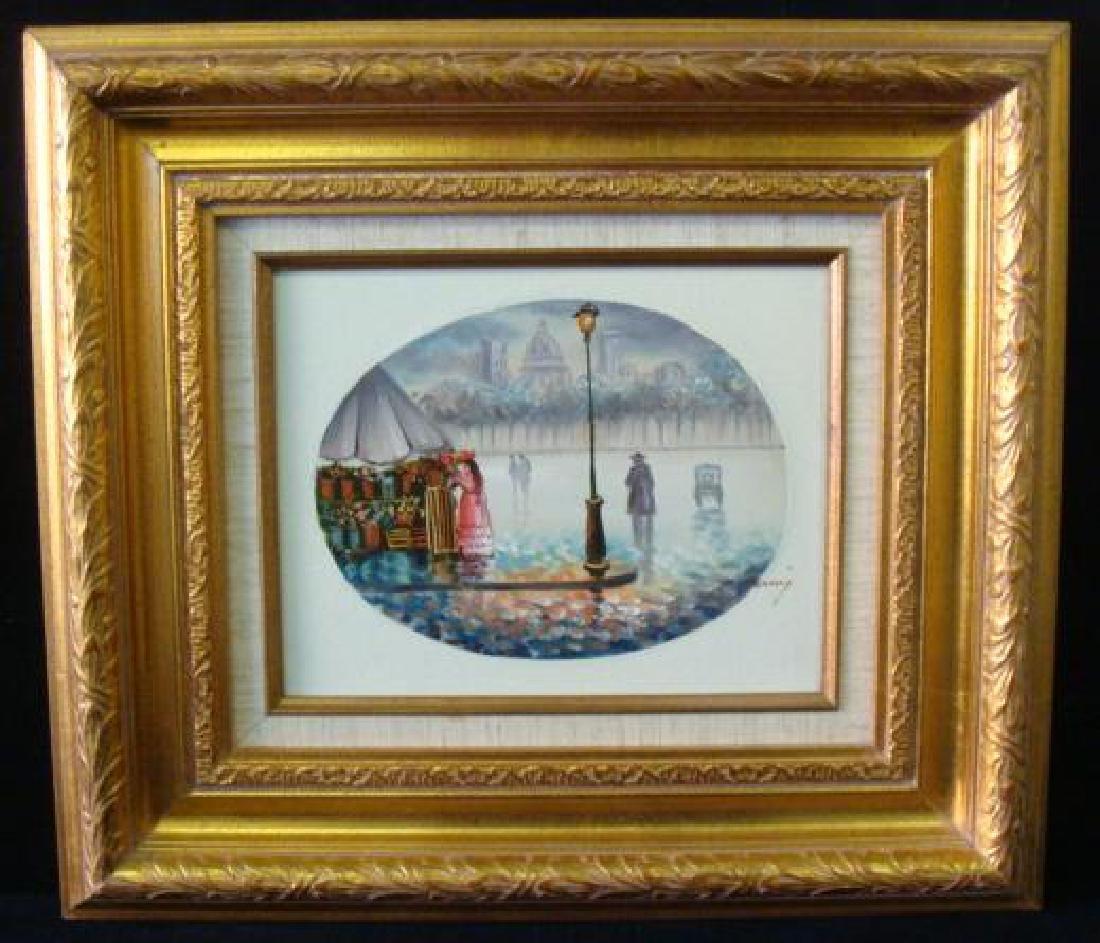 STREET SCENE, Oil on Canvas, Signed E. HENNING:
