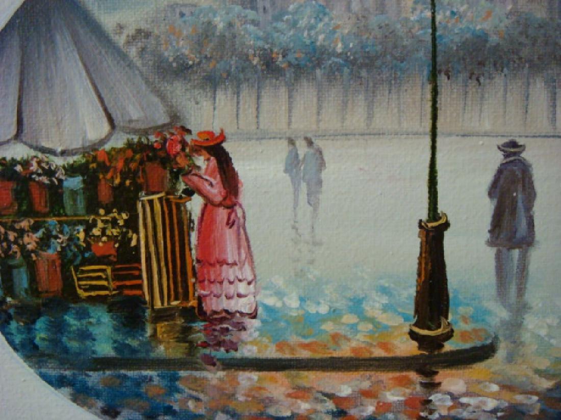 STREET SCENE, Oil on Canvas, Signed E. HENNING: - 2