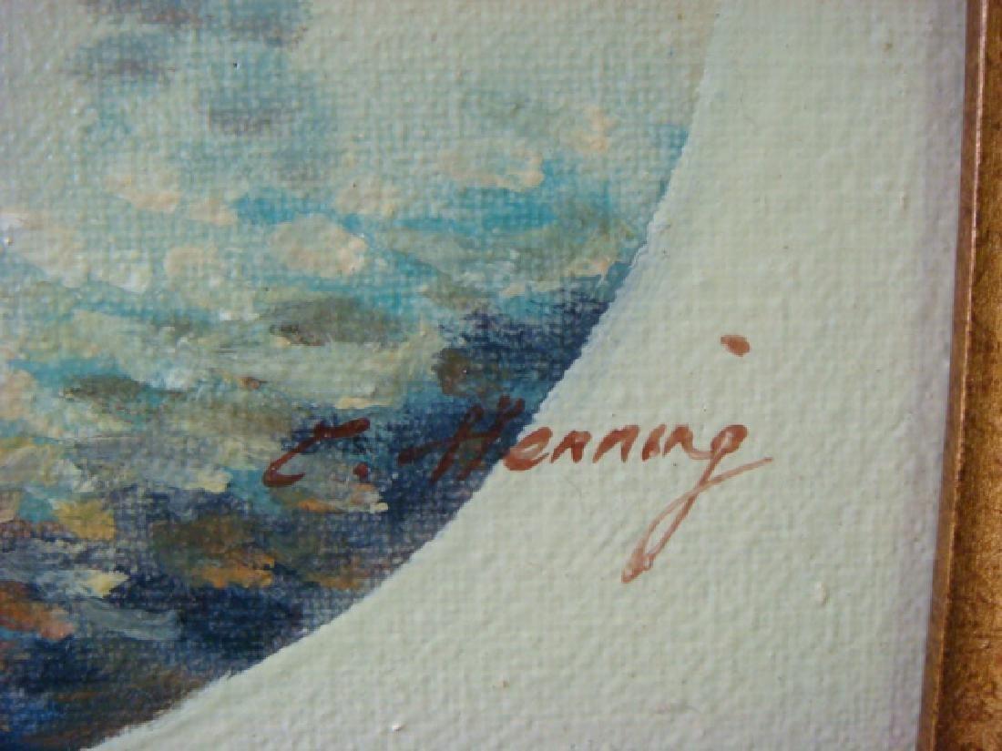 STREET SCENE, Oil on Canvas, Signed E. HENNING: - 3