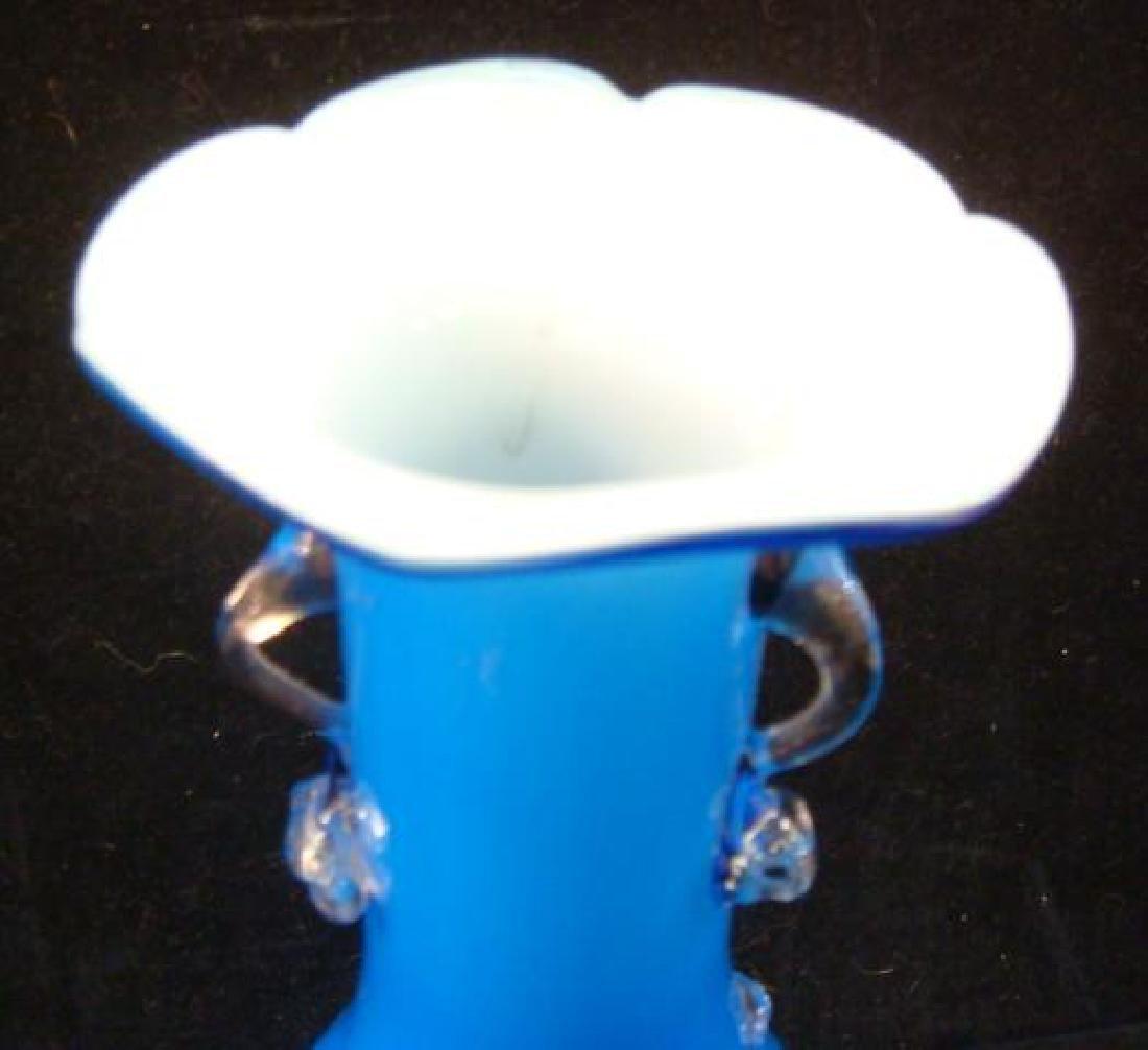 Pair of Murano Hand-blown Art Glass Vases: - 2