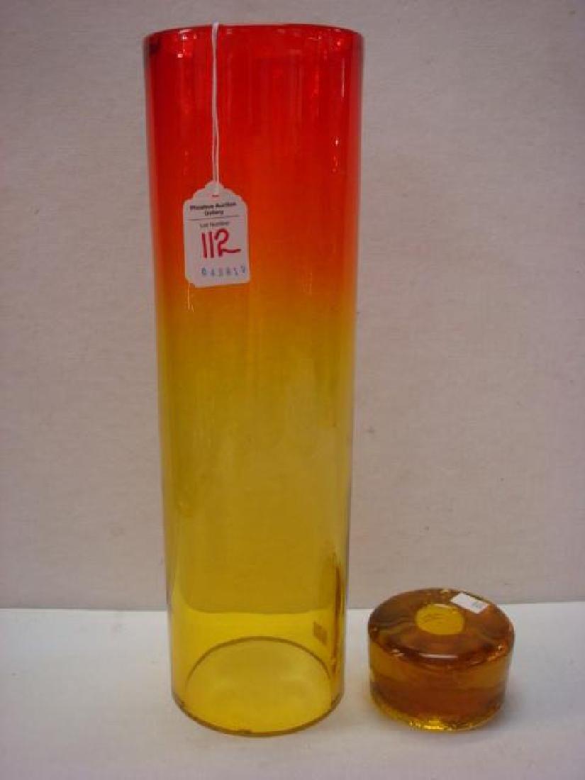 BLENKO Amberina Glass Hurricane Shade, Candle Holder: - 2