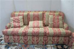 HIGHLAND HOUSE Three Cushion Upholstered Sofa: