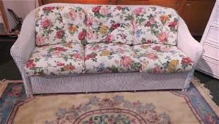 Six Cushion LLOYD LOOM White Sofa: