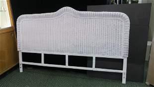 White Wicker King Size Headboard