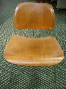 EAMES Style Mid-Century Chrome & Bentwood LCW Chair: