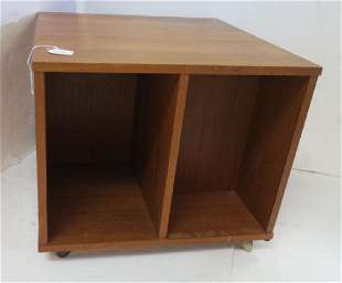Danish Modern Rolling Book Cube or End Table