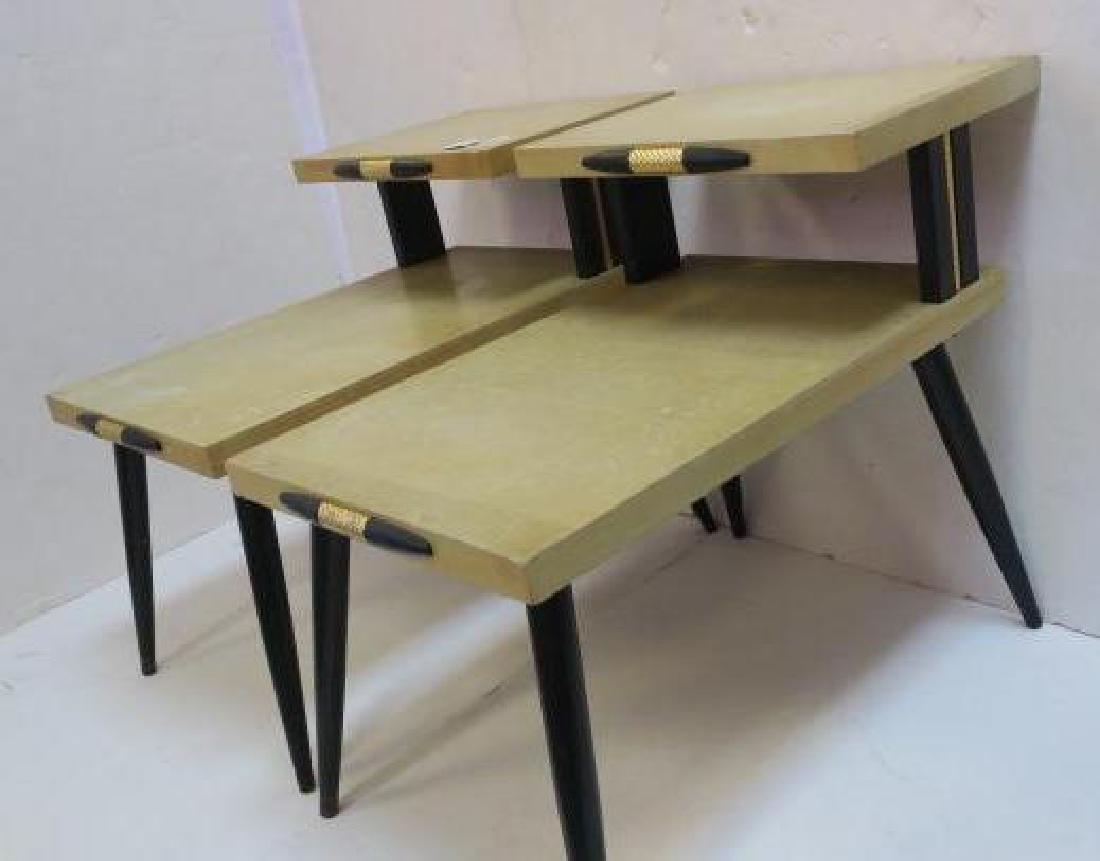 Pair of Mid-Century Modern Step-Back Side Tables: