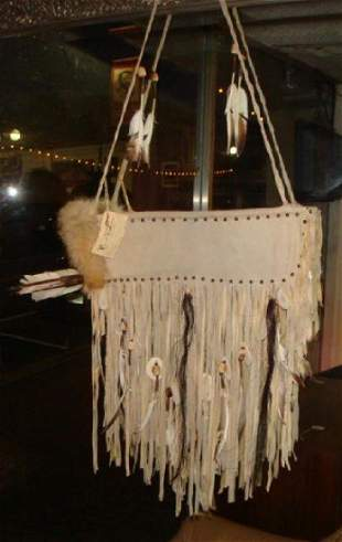 Native American Hand Crafted Quiver with Arrows