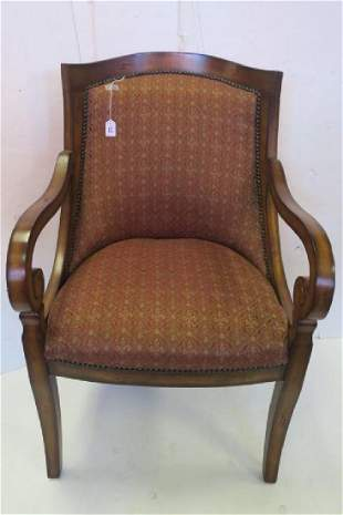 Upholstered Wooden Frame Arm Chair