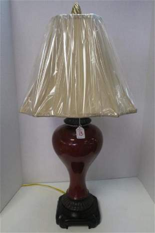 ORIENTAL ACCENT Ceramic Ginger Jar Style Table Lamp