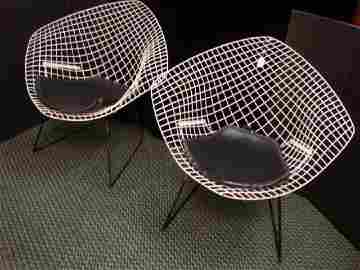 Pair of HARRY BERTOIA Diamond Lounge Chairs for KNOLL: