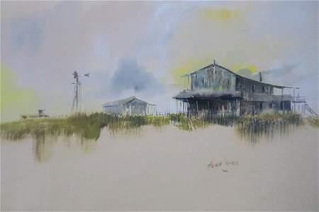 Signed HERB JONES Watercolor Landscape: