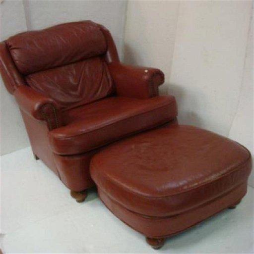 Magnificent Leathercraft Inc Bradley Leather Chair Ottoman Cjindustries Chair Design For Home Cjindustriesco