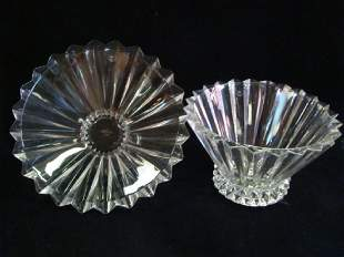 Two ROSENTHAL Classic Clear Crystal Flared Bowls