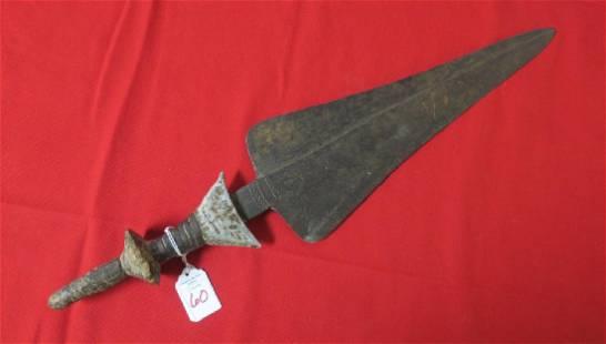 KONDA Tribe Short Sword ZAIRE AFRICA