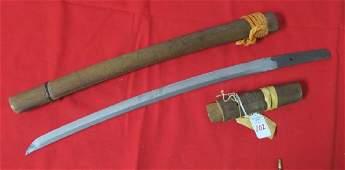 Signed JAPANESE SAMURAI WAKIZASHI Sword Blade: