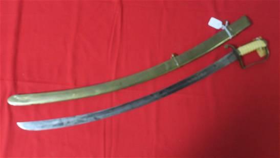 American Naval Officer Sword CA 1800 Bone Grips