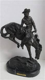 Replica Bronze Outlaw Sculpture After Remington