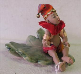 Artist Signed Clay Pixie on Lear Sculpture