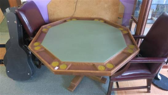 Pedestal Base Octagonal Poker Table