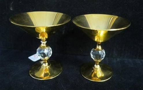 Pair of VALERIO ALBARELLO GEP over Brass Martinis