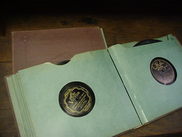 10A: Collection of 78 RPM Records in Albums: