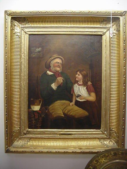 197: 19th Century Gillett Oil on Canvas: