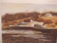 239A: Harold Etter Original Wharf Boat Waterc