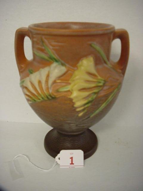 1: ROSEVILLE Freesia 1945 Double Handle Urn 196-8: