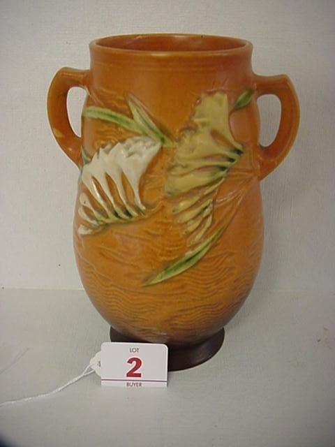 2: ROSEVILLE Freesia 1945 Double Handle Vase 120-7: