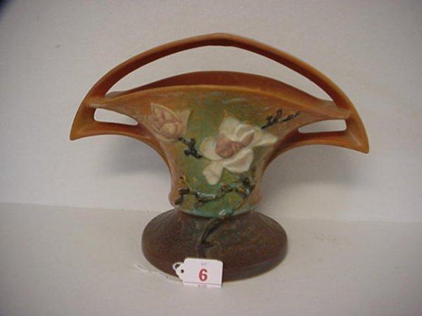 6: ROSEVILLE Magnolia 1940 Tan Basket 385-10: