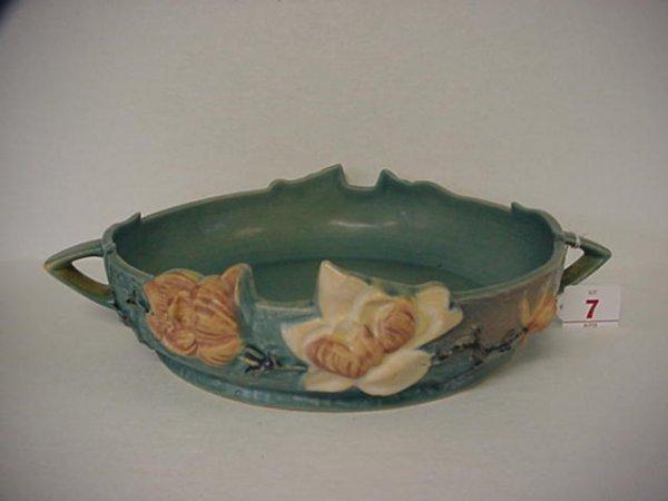 7: ROSEVILLE Magnolia 1940 Blue Bowl 450-10: