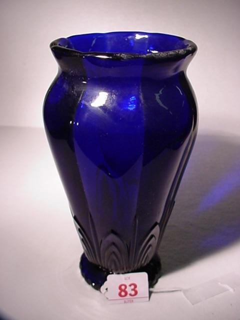 83: HEISEY Cobalt Cathedral Vase: