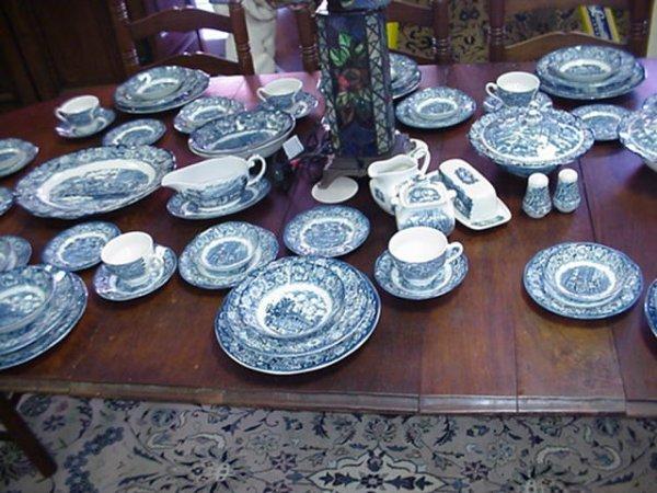 565: Liberty Blue Staffordshire England Dinnerware Serv