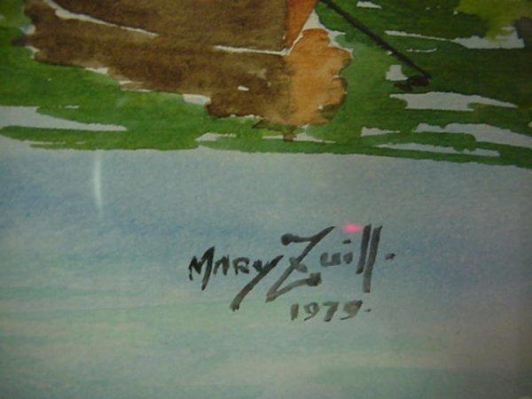 663: MARY ZUILL Watercolor on Paper Bermuda Landscape: - 3