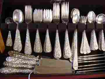 STIEFF Rose Sterling Silver Flatware, 114 Pieces: