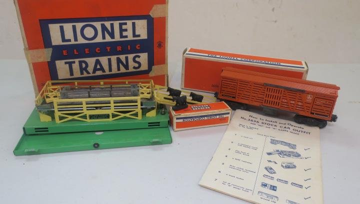 LIONEL #3656 OPERATING CATTLE CAR New in Box: