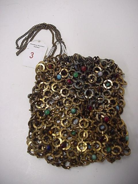 3: Unique Vintage Chain Metal Purse: