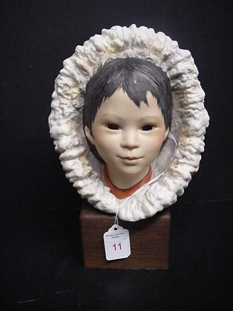 11: Signed Cybis Porcelain Eskimo Snow Bunting: