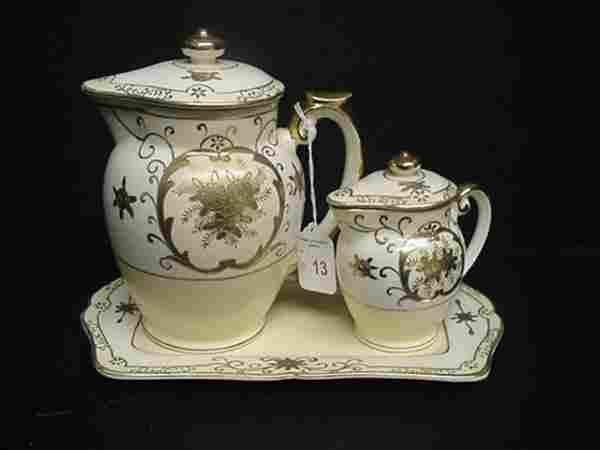 3 Piece Japanese Porcelain Tea Set